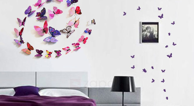 Free 12pcs 3D DIY Butterfly Wall Stickers For Home Decoration